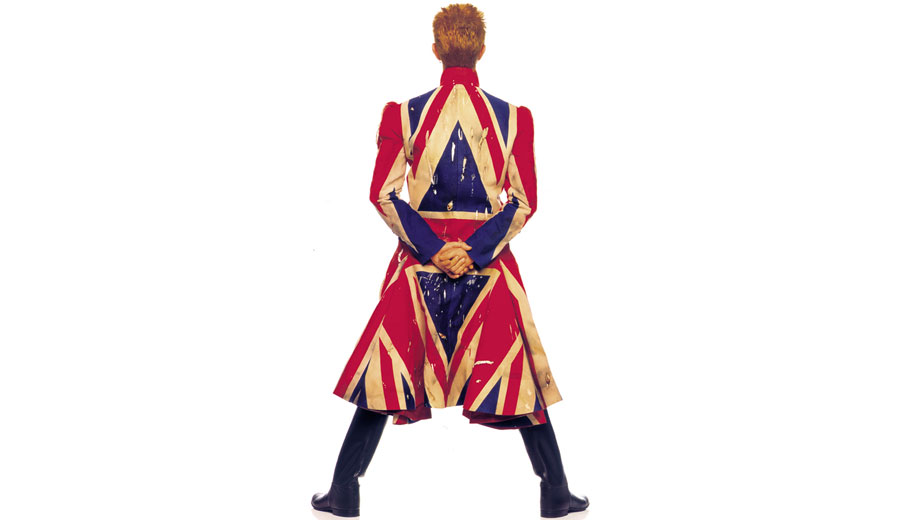 David Bowie and Union Jack'et