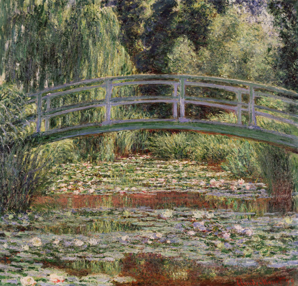 Japanese Footbridge and Water Lily Pool, Giverny by Claude Monet