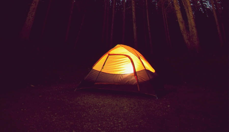 Camping Solo in Light