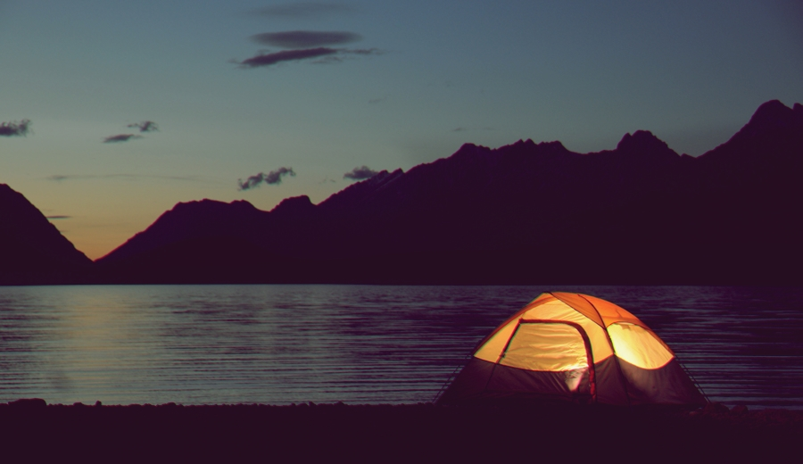 Camping Solo in Lake