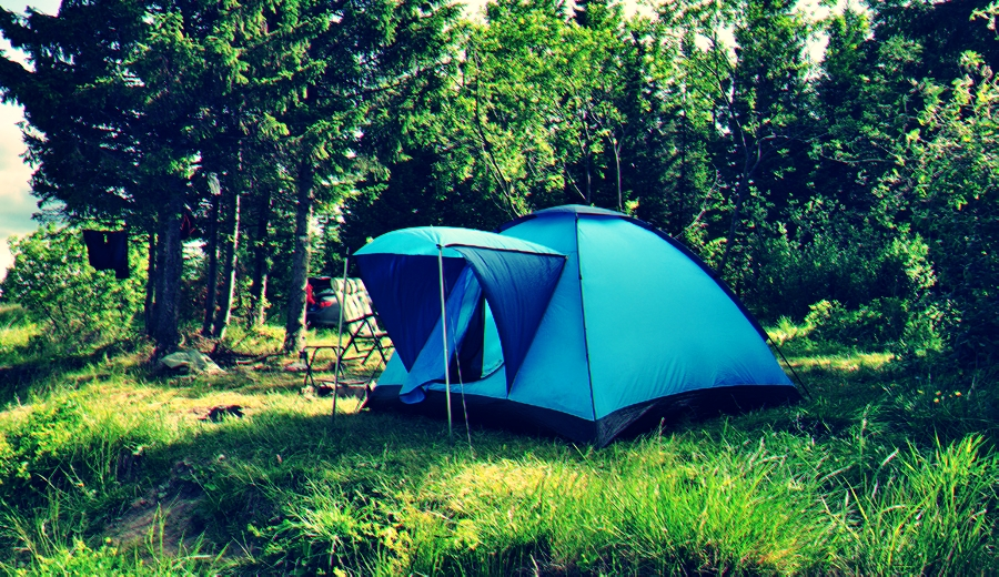 Camping in Woods