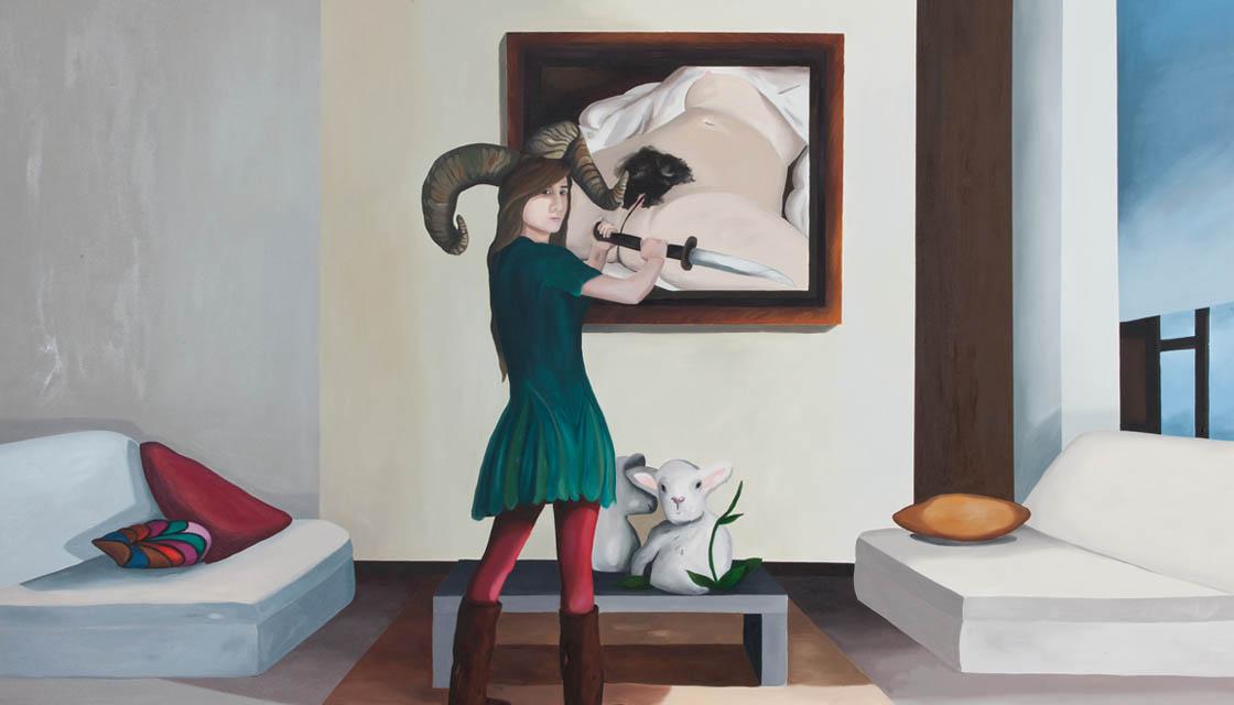 Yeşim Akdeniz, Regiment, 2010, acrylic on canvas, 200x240cm
