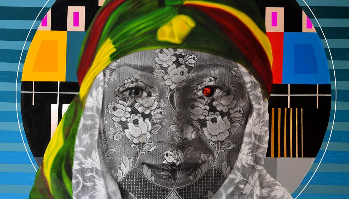 Emine Akyol, Tuval üzerine yağlıboya ve akrilik, 125x150 cm, 2014