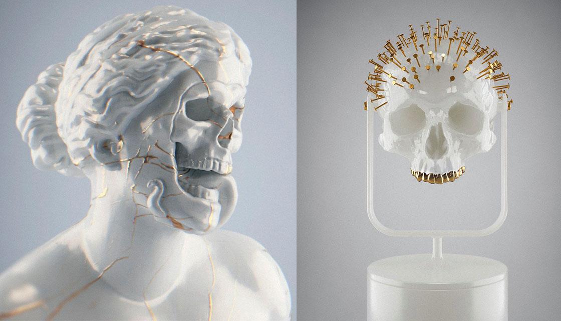 Hedi Xandt skull