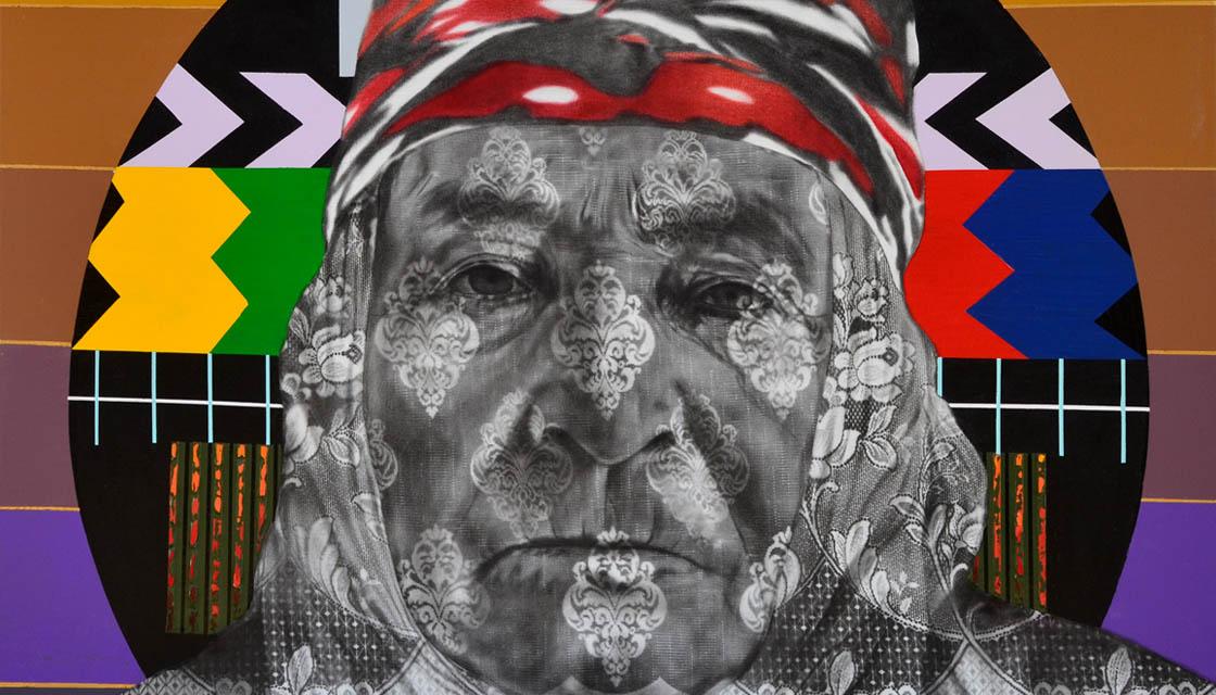 Sultane, Tuval üzerine yağlıboya ve akrilik, 125x150 cm, 2014