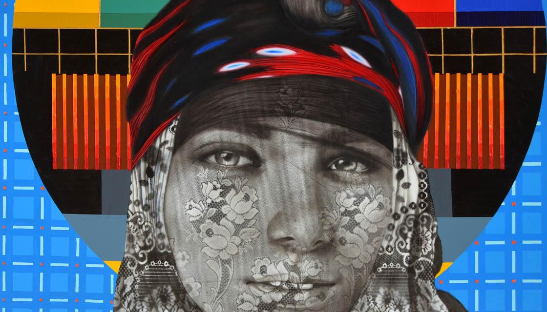 isimsiz III, Tuval üzerine yağlıboya ve akrilik, 120x140 cm, 2014